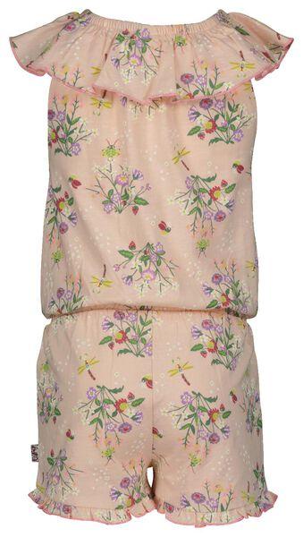 kinderjumpsuit ruffle roze roze - 1000023699 - HEMA