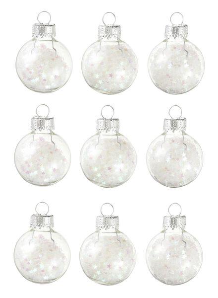 9-pak glazen kerstballen - 25105729 - HEMA