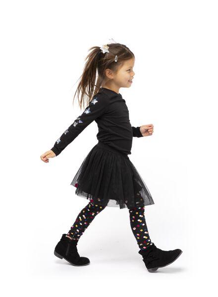 kinder t-shirt zwart zwart - 1000017247 - HEMA