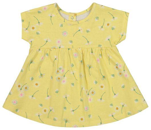 newborn set - tuniek en broek geel 56 - 33430642 - HEMA