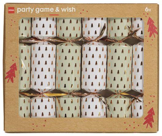 partycracker spel met feestwens 6 stuks - 25610161 - HEMA