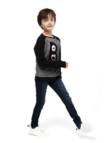 kindersweater zwart zwart - 1000017032 - HEMA