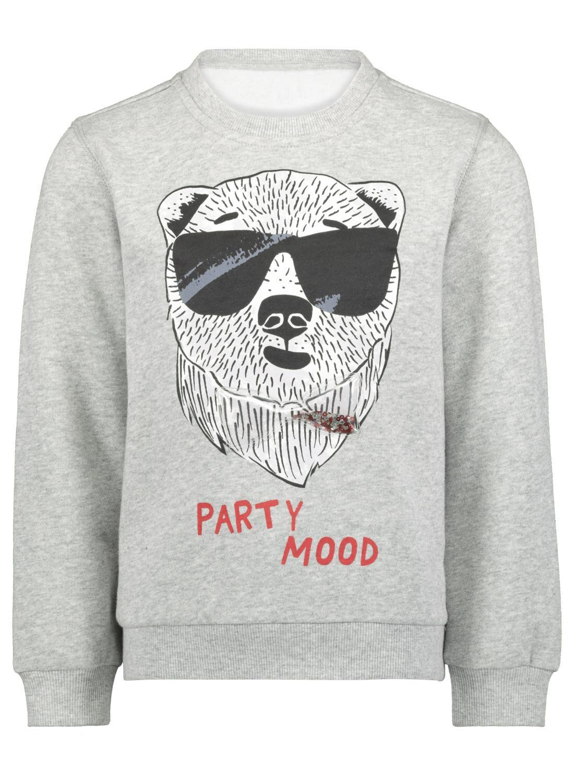 HEMA Kindersweater Grijsmelange (grijsmelange)