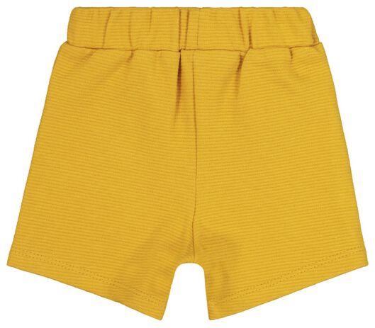 baby korte broek geel 80 - 33127904 - HEMA