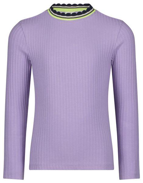 kinder t-shirt rib lila lila - 1000024963 - HEMA