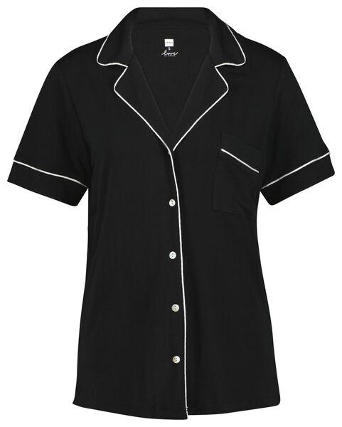 dames pyjama zwart M - 23400552 - HEMA