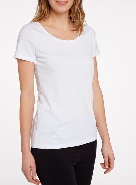 dames t-shirt wit wit - 1000005474 - HEMA