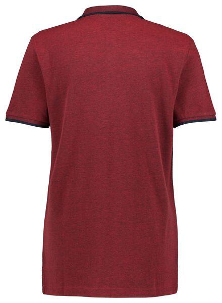 herenpolo rood rood - 1000016760 - HEMA