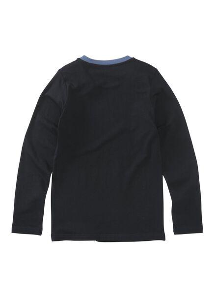 kinderpyjama donkerblauw donkerblauw - 1000009229 - HEMA