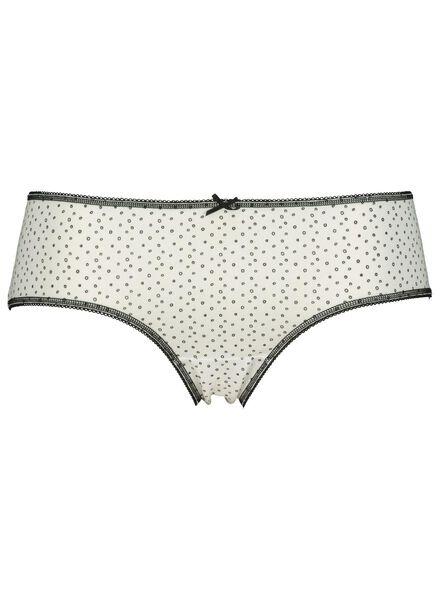 3-pak dameshipsters katoen zwart/wit XL - 19620644 - HEMA