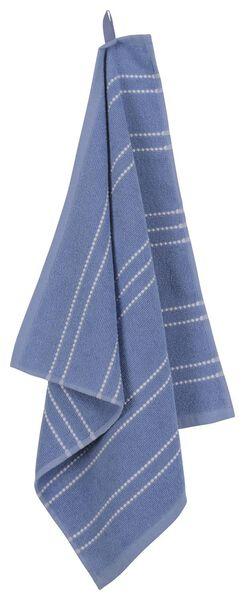 keukendoek - 50 x 50 - katoen - blauw streep - 5490029 - HEMA