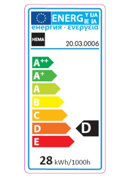 besparende gloeilamp kaars 35w - kleine fitting - 20030006 - HEMA