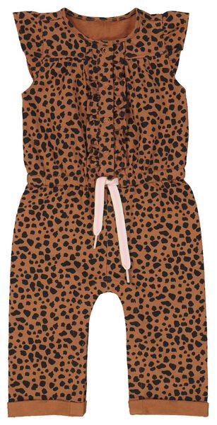 baby jumpsuit sweat bruin 68 - 33001252 - HEMA