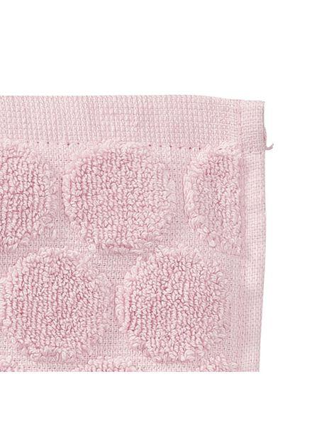 handdoek - 70 x 140 cm - zware kwaliteit - roze gestipt - 5240190 - HEMA