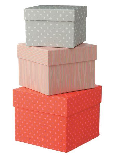 3-pak kartonnen doosjes - 39880010 - HEMA