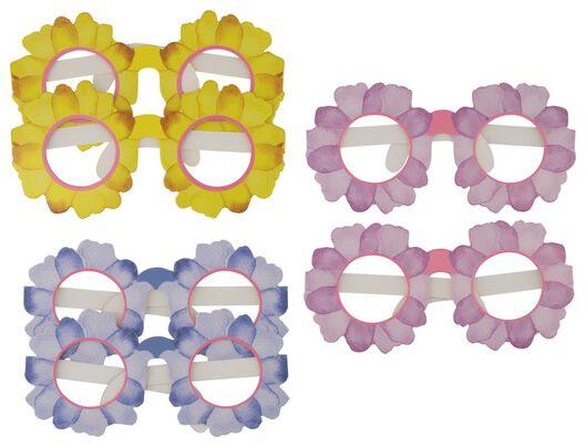 feestbril papier bloemen - 6 stuks - 14200444 - HEMA
