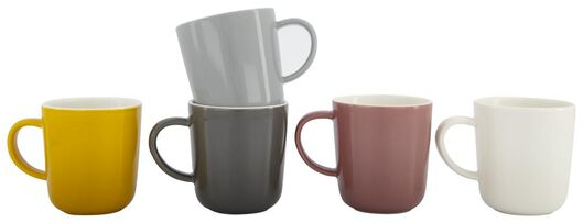 koffiemok - 130 ml - Chicago - oudroze 130 ml lila - 9602102 - HEMA