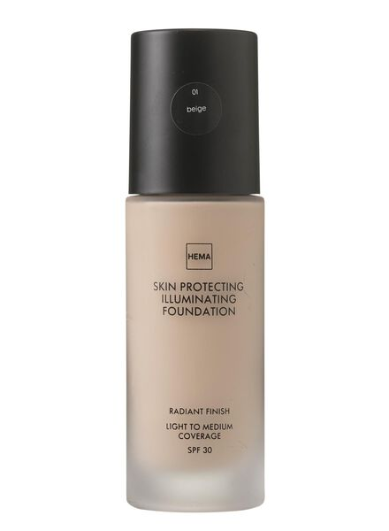skin protecting illuminating foundation Beige 01 - 11292001 - HEMA