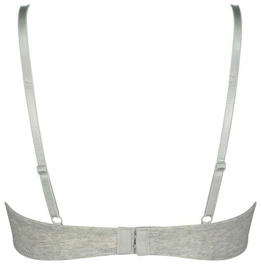 padded t-shirt bh katoen - 2 stuks grijsmelange 75B - 21821243 - HEMA