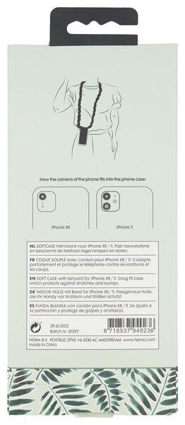softcase met scrunchie koord iPhone XR/11 - 39610152 - HEMA