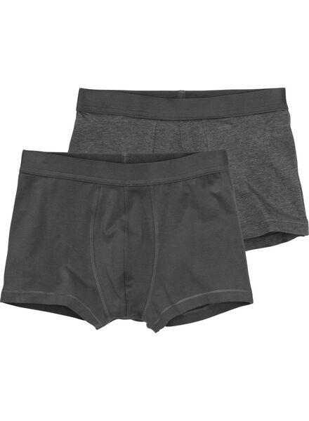2-pak RLC short boxer donkergrijs donkergrijs - 1000001042 - HEMA