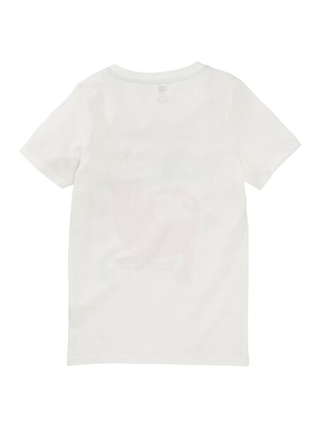 kinder t-shirt gebroken wit gebroken wit - 1000012366 - HEMA