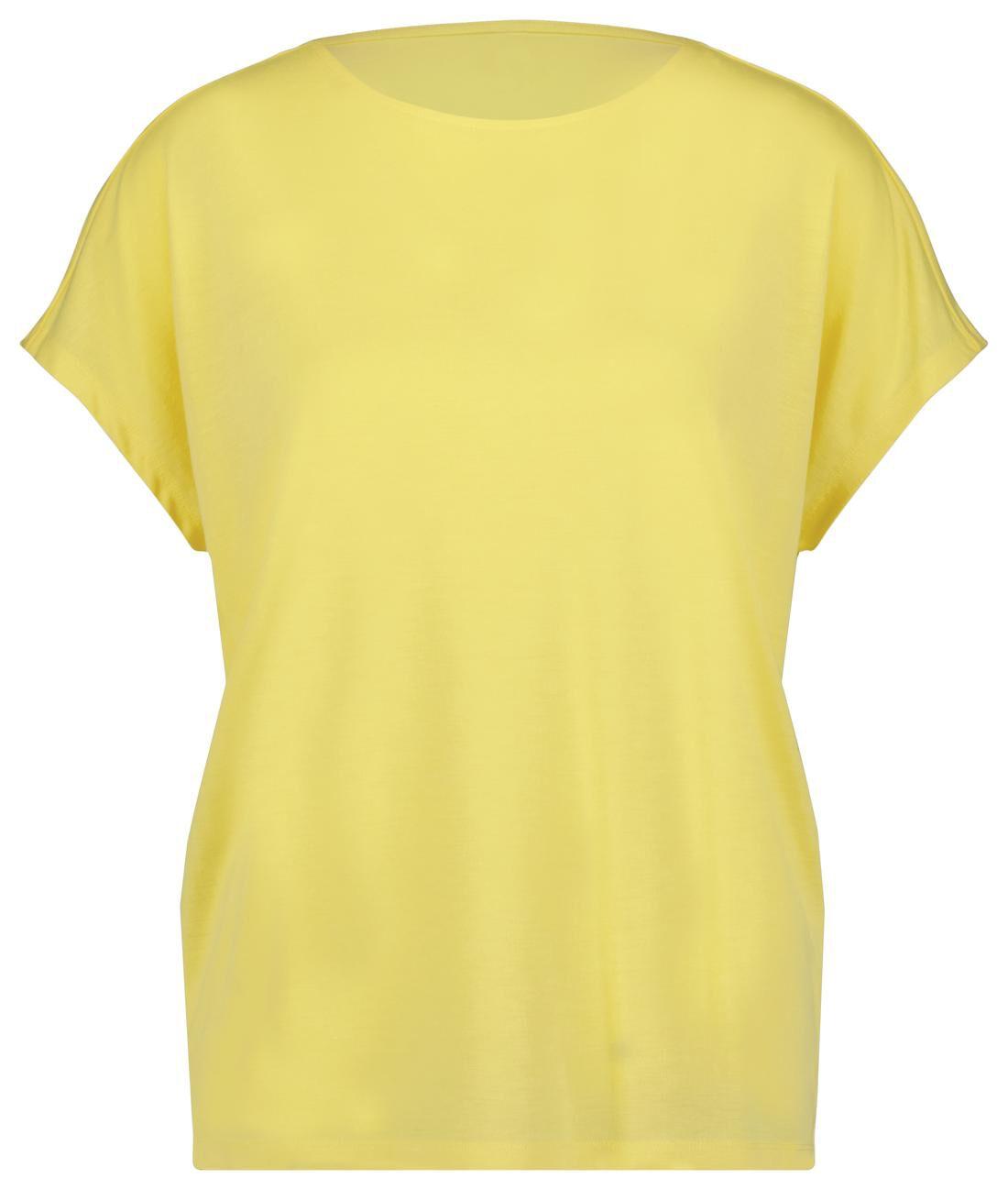 HEMA Dames T-shirt Geel (geel)