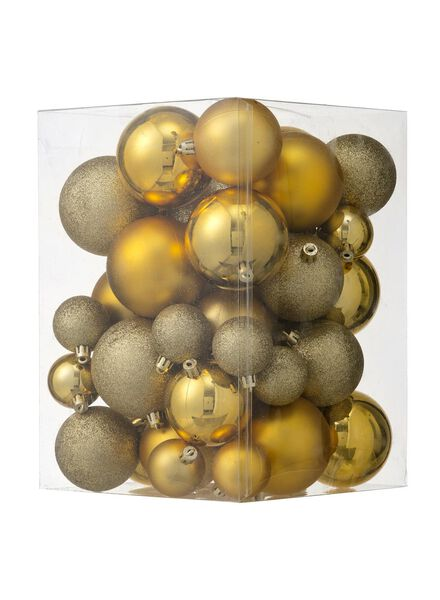 44-pak plastic kerstballen - 25100880 - HEMA