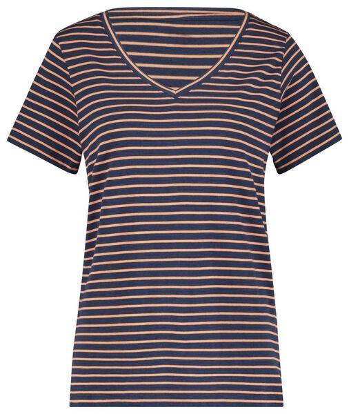 dames t-shirt met bamboe koraalroze koraalroze - 1000020033 - HEMA