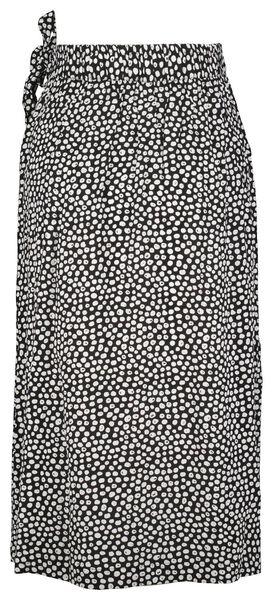 dames overslagrok stippen zwart zwart - 1000023996 - HEMA