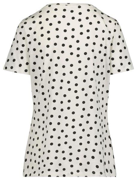 dames t-shirt zwart/wit zwart/wit - 1000019256 - HEMA