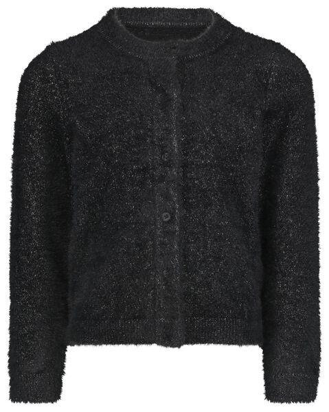 kindervest fluffy zwart zwart - 1000021607 - HEMA