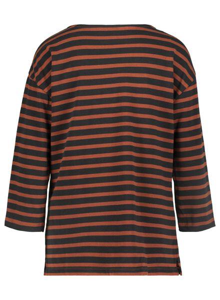 dames t-shirt bruin bruin - 1000015672 - HEMA