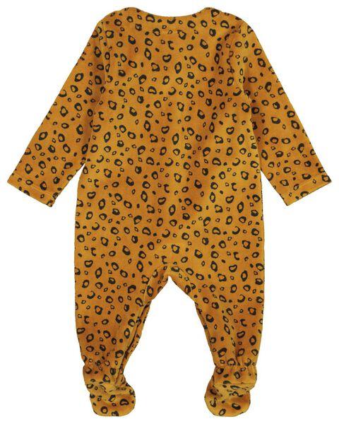 newborn onesie velours bruin - 1000021820 - HEMA