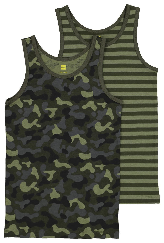 HEMA 2-pak Kinderhemden Camouflage Groen (groen)