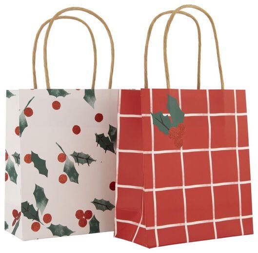 cadeautasjes papier S 17x15x7 hulst 2 stuks - 25700137 - HEMA