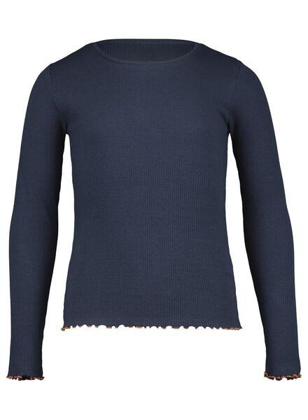 kinder t-shirt blauw blauw - 1000015573 - HEMA