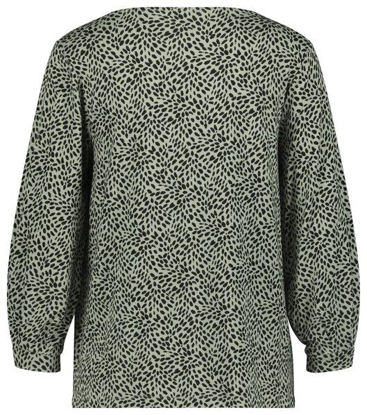 dames t-shirt stippen lichtgroen M - 36228067 - HEMA
