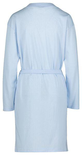 damesbadjas jersey katoen lichtblauw lichtblauw - 1000019762 - HEMA