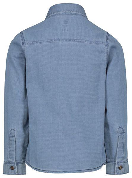 kinderoverhemd denim lichtblauw lichtblauw - 1000022231 - HEMA
