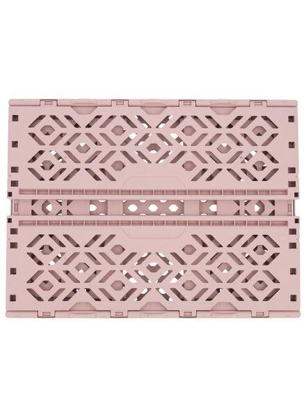 klapkrat gerecycled - 39 x 29 x 15 cm - roze roze 39 x 29 x 15 - 39892906 - HEMA