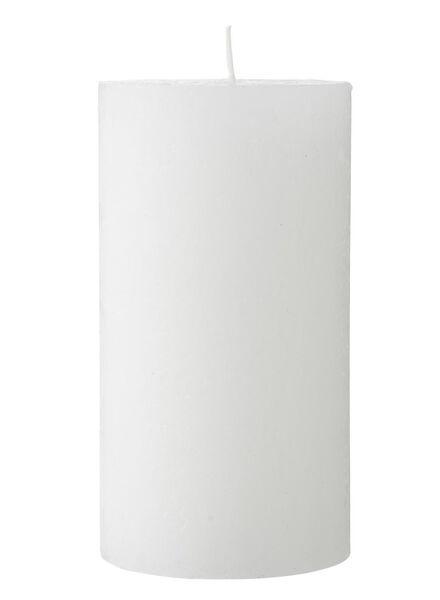 rustieke kaarsen wit wit - 1000015386 - HEMA