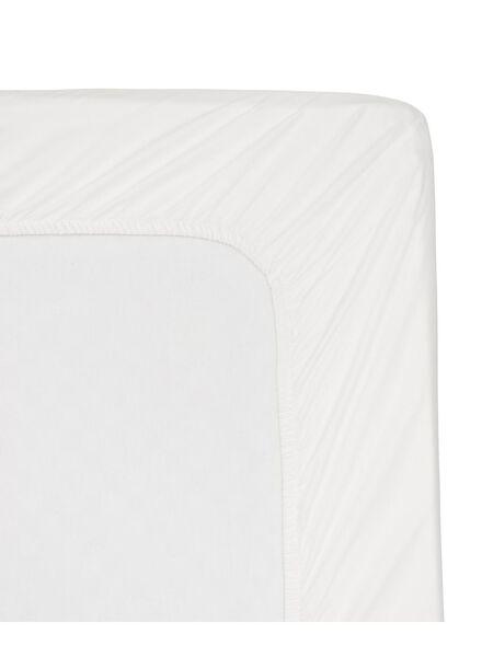 hoeslaken - hotel katoen satijn - 90 x 220 cm - wit - 5140029 - HEMA