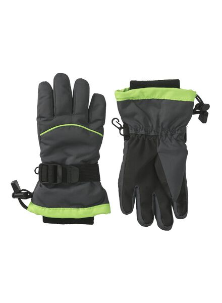 kinder skihandschoenen grijs grijs - 1000009651 - HEMA
