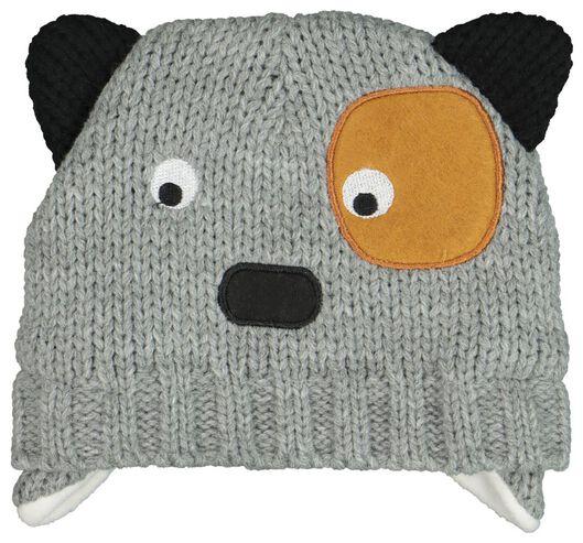 babymuts grijsmelange - 1000020143 - HEMA