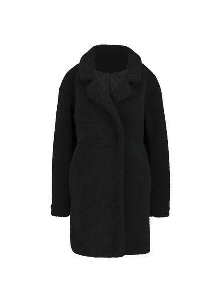 damesjas zwart zwart - 1000015166 - HEMA