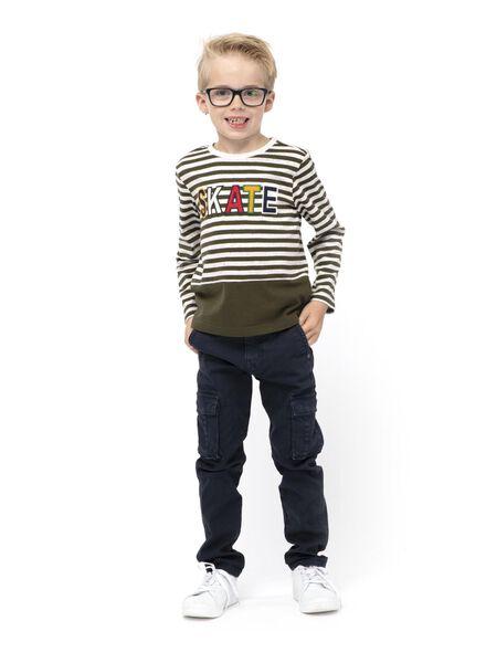 kinder t-shirt donkergroen donkergroen - 1000014729 - HEMA