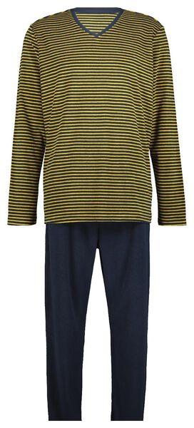 herenpyjama badstof donkerblauw - 1000020364 - HEMA