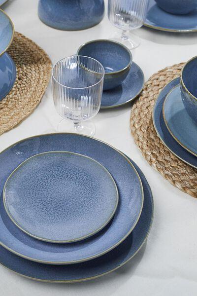 ontbijtbord - 20 cm - Porto - reactief glazuur - blauw - 9602022 - HEMA