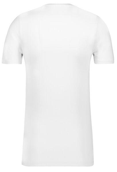heren t-shirt regular fit o-hals extra lang - 2 stuks wit wit - 1000009941 - HEMA